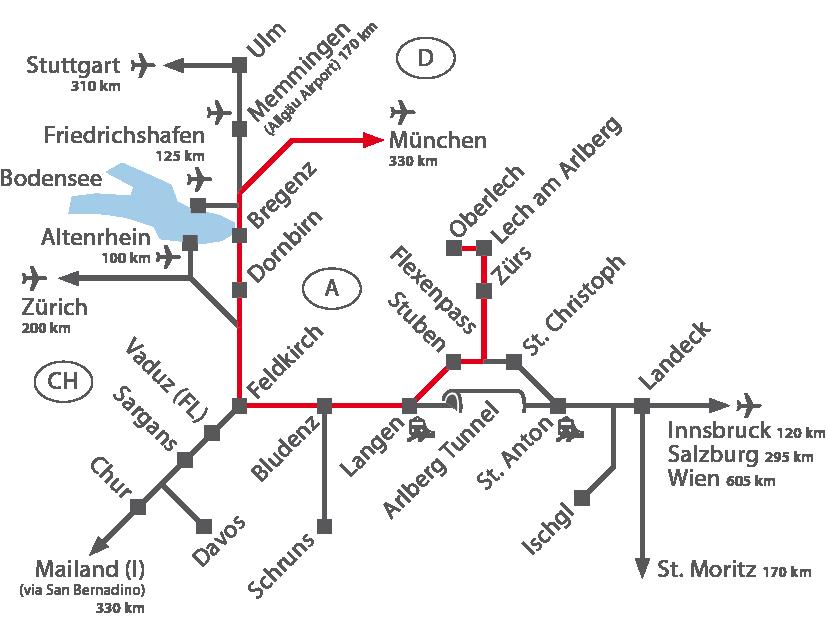 Munich Airport - Arlberg